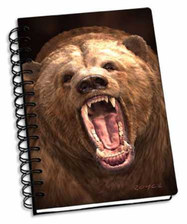 3D Notizbuch Grizzly