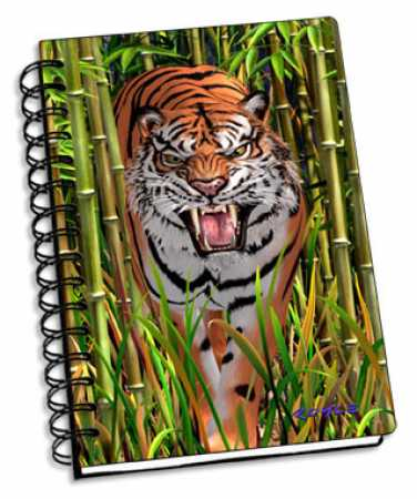 3D Notizbuch Tiger