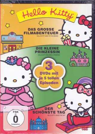 HELLO KITTY - 3 DVD - Box - 15 Episoden [NEU in Folie]