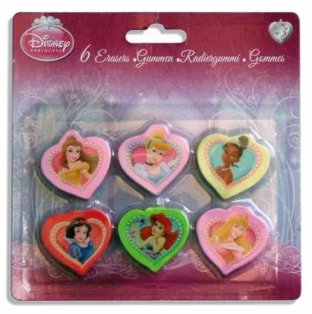 Disney Princess Radiergummis im Set