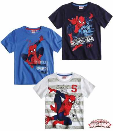 SPIDERMAN T-SHIRT 100% Baumwolle Gr. 110-116-128-140