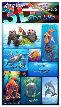 3D Stickers Premium Sea Life